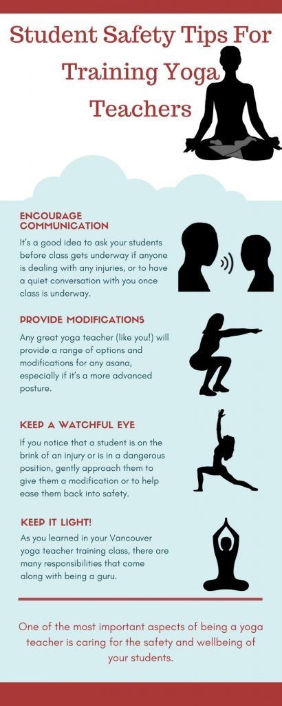 student safety tips for training yoga instructors at naked truth yoga